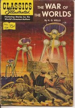 Jan 1955 Classics Illustrated #124 H.G. Wells The War Of The Worlds Sci-Fi - $14.95