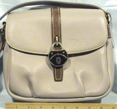 Dooney & Bourke Gray Samba Flap Pebbled Leather Crossbody Bag Purse - $59.95