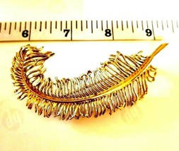 Vintage  Gold Tone CORO Large Lacy FERN BROOCH signed - $15.99