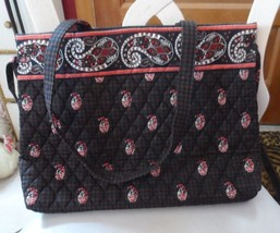 Vera Bradley handbag with ties on side in retired Houndstooth Brown pattern - $28.50