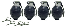 4 Pack BLACK Toy Hand Grenades with Sound Effects - $11.99