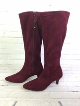 Aerosoles Women's Size 5.5 Afterward Boot Wine Red Fabric Knee High Boots - $74.24