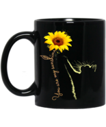 Cat Sunflower You are My Sunshine BM11OZ 11 oz. Black Mug - $17.50
