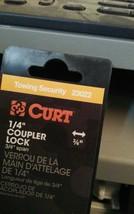 "Trailer Coupler Latch Lock 1/4"" Pin Security Lock w/ Keys Curt 23022 image 2"