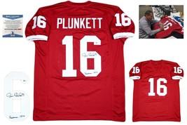Jim Plunkett Autographed SIGNED Custom Jersey - Beckett w/ Photo - Heisman 70 - $118.79
