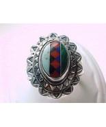 Genuine INLAID STERLING RING-Turquoise, Lapis, Malachite, Coral, Black O... - $95.00