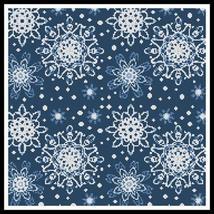 Blue Snowflakes holiday winter cross stitch chart Artecy Cross Stitch Chart - $14.60