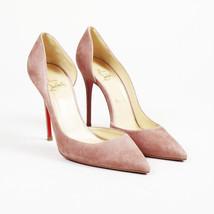 "Christian Louboutin Pink Suede Half D'Orsay ""Iriza"" Pumps SZ 39 - $305.00"