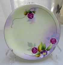 Vintage Hand Painted Nippon Saucer Floral 6'' diam - $25.00