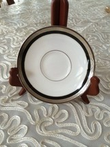 "Waterford Fine China Saucer Colleen White With Silver Rim 5.5"" Made in Japan NWT - $20.27"