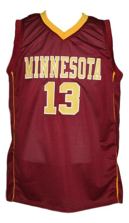 Maverick ahanmisi  13 custom college minnesota  basketball jersey maroon   1