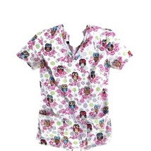 Dickies Psychedelic Owls Flowers XS Scrub Top - $16.82