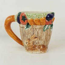 Fitz and Floyd 1995 Omnibus Bunny Carrot Rabbit Cup Mug Ceramic Easter Spring - $23.00
