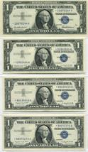 (3) 1957  & (1) 1957A $1 Silver Certifcate Star Banknotes Choice - Gem U... - $95.00