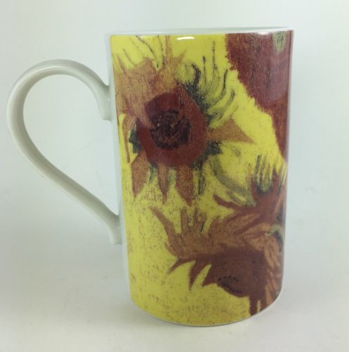 Dunoon Sunflower Stoneware Coffee Mug Cup Made in Scotland 8 oz Brown Yellow