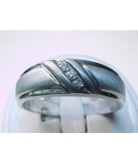 Genuine DIAMONDS in STERLING RING Band - Size 10 3/4 - $155.00