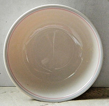 """Corelle ENGLISH BREAKFAST - Beige w/ blue & pink bands 6.25"""" cereal bowl... - $6.00"""