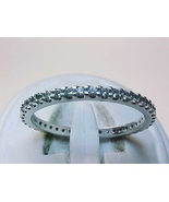 ETERNITY BAND RING in Sterling Silver with Russian-cut Cubic Zirconia - ... - $65.00