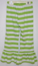 Blanks Boutique Green White Ruffled Pants Cotton Spandex Size 4T image 2