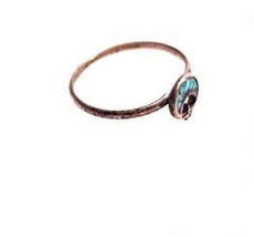 Lovely Size 5 Sterling Silver Ring with Turquoise - $8.95