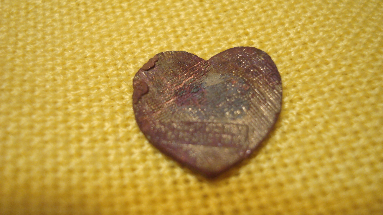 Vintage Disney Heart - Mickey and Minnie - Relic Hunting, FREE SHIPPING