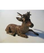 Vintage Germany Lead Sitting Deer /Buck / Stag Toy Figures Mini Model Pr... - $10.88