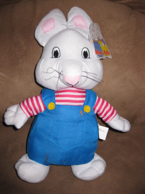 MAX from MAX RUBY Brand New Licensed Plush Stuffed Animal Tags 14