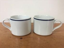 Pair Vintage Dansk Bistro Christianshavn Japan Porcelain Coffee Mugs Tea Cups - $39.99