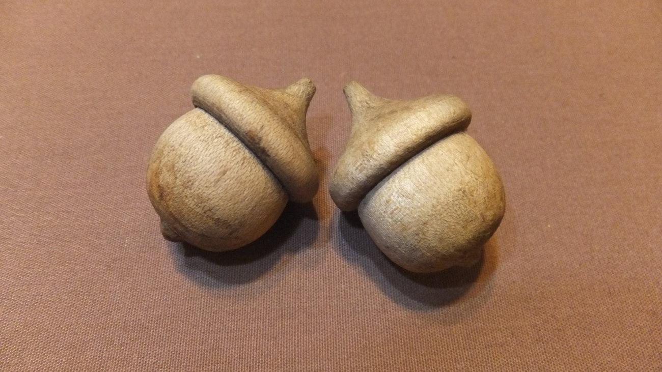 Three Wooden Acorns