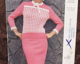 Vintage KNITTING Patterns LADIES SKIRT and SWEATER TOP Sizes 32 - 40 Bust RETRO - $6.95