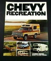 Chevrolet 1977 Recreation Sales Brochure Van Camper Suburban Motorhome Original - $10.99