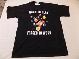 XL NEW Born to Play Pool Balls Forced to Work Billiard Mens T Shirt Blac... - $16.99