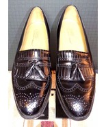 Men's Johnston & Murphy Classic Black Leather Tassel Loafer Sz. 11M EXCE... - $44.17
