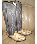Olathe Womens 5.5B Snakeskin Western Riding Boots - $149.97