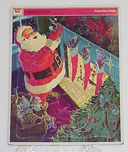 "Presents From Santa - Vintage 1971 Frame-Tray Puzzle By Whitman 14.5"" Tall - $16.99"