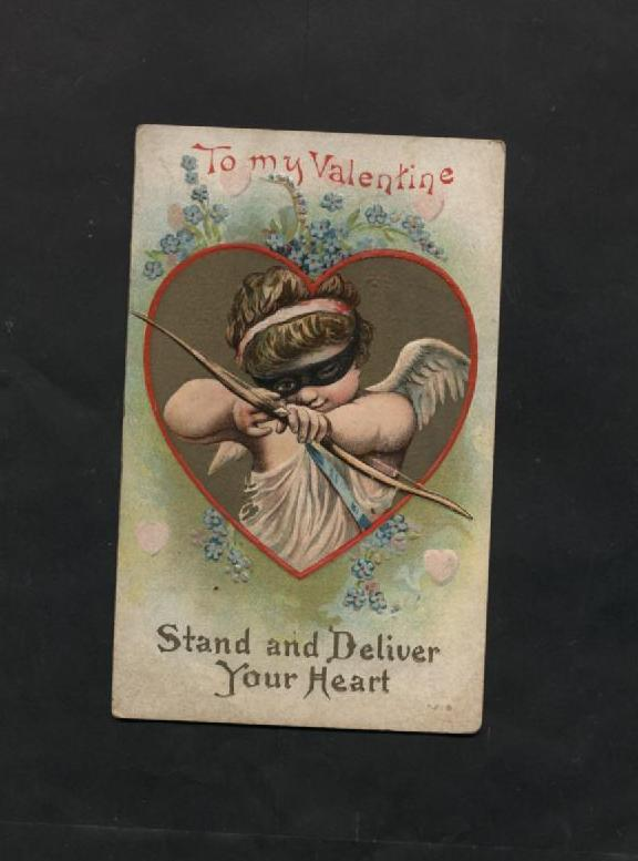 Lot 3 Vintage 1910s Valentine Cards Cupid American Indian