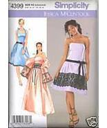 Uncut Size 8 to16 JESSICA McCLINTOCK Evening Gown Stole Simplicity 4399 ... - $7.99