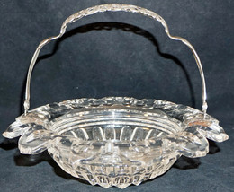 ABP American Brilliant Period Cut Glass Brides Basket with Silver Mount ... - $299.50