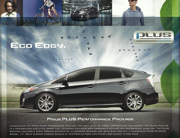 2011/2012 Toyota PRIUS HYBRID PLUS Package sales brochure sheet 11 US