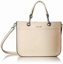 Calvin Klein Sandra Goat Leather Boxy Satchel - $99.00
