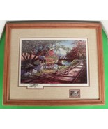 Ken Zylla Signed Commemorative Print NARY A CARE Framed and Matted - $78.16