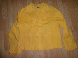 Women's Ann Taylor LOFT Sz 10 Yellow Jacket Collared - $18.49