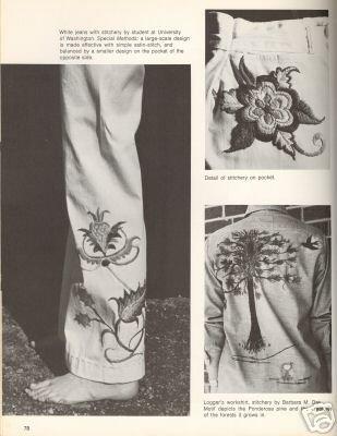 Stitchery Idea Book Beverly Rush 1970's Hippie Book