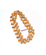 Rudraksha Mala / Rudraksha Rosary - 109 Beads  in Silver Self Design Caps - $98.01