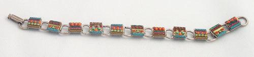 Signed ADAYA Maya Rayten Mosaic bracelet