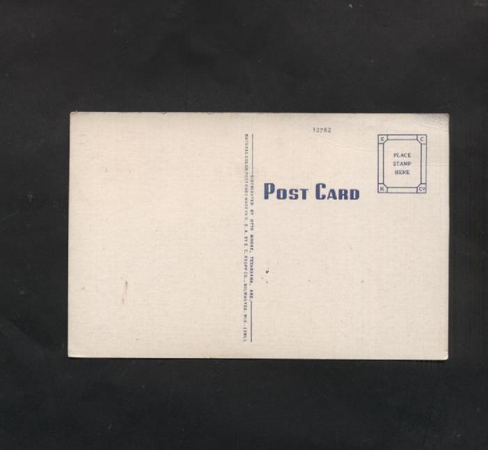 Vintage Linen Postcard Texas Arkansas Texarkana Post Office Café Old Cars