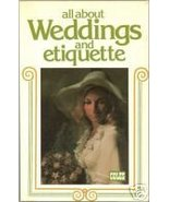 1970s All About Weddings and Etiquette by Glennon Arnold Vintage Retro - $3.49