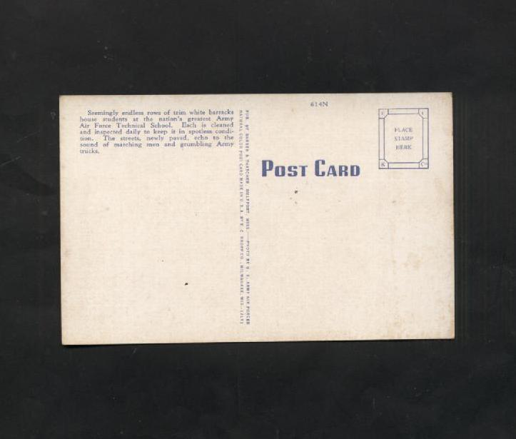 Vintage Postcard Linen Keesler Field Mississippi Army Air Force Technical School