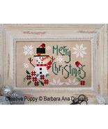 Merry Christmas cross stitch chart Barbara Ana Designs - $9.90