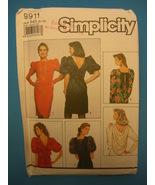 Simplicity 1990 Pattern 9911 Size H5 (6-14) - $4.95